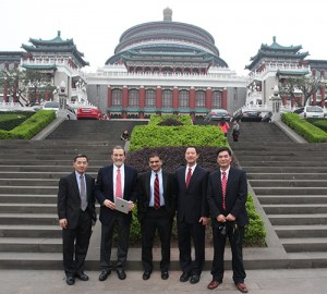 UC Delegation visiting Chongqing University in 2013.