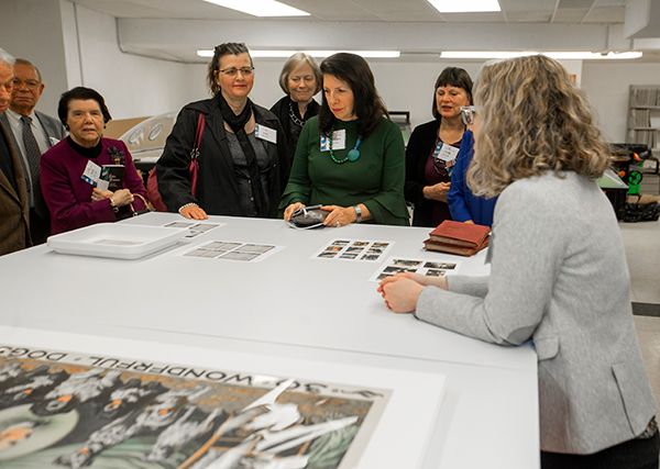 touring the preservation lab