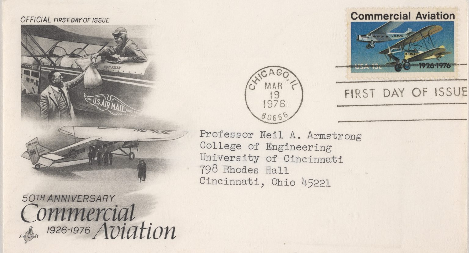 neil armstrong postcard