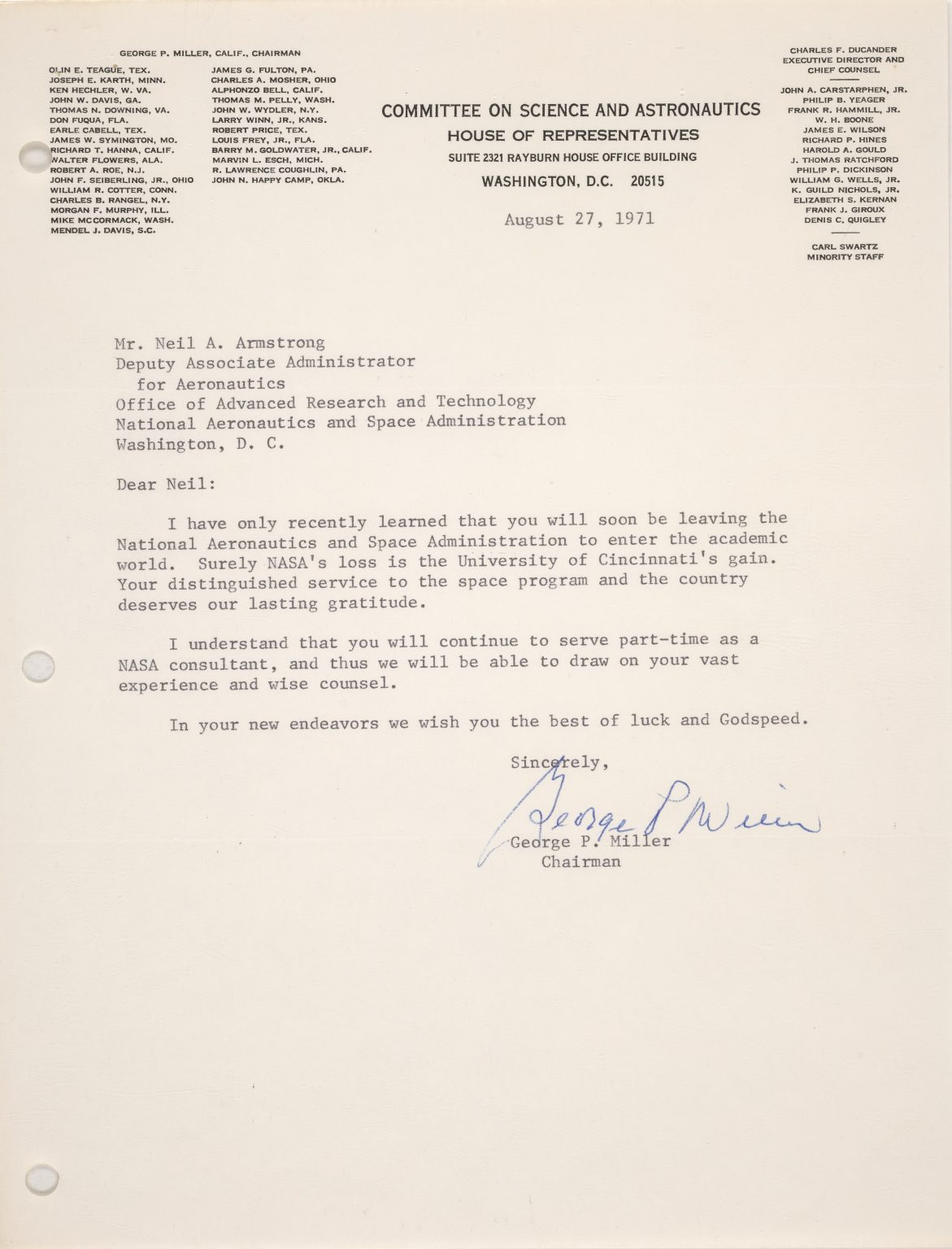 neil armstrong letter