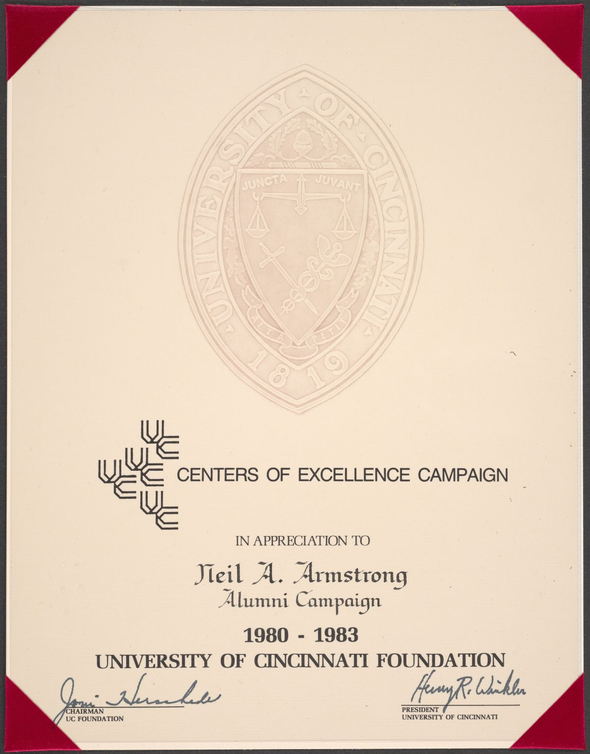 neil armstrong certificate