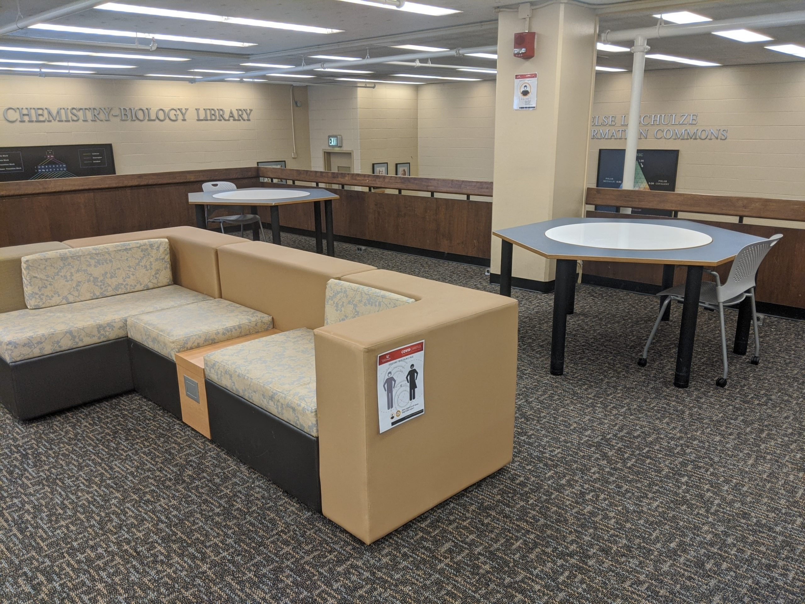 study space in the ChemBio Library