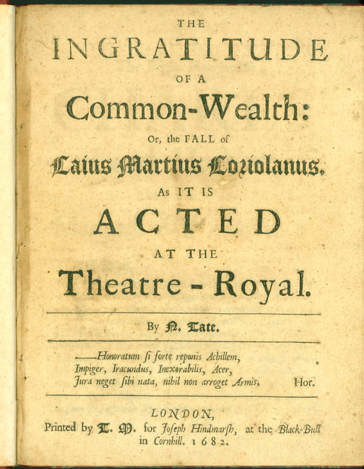 the ingratitude of a common-wealth
