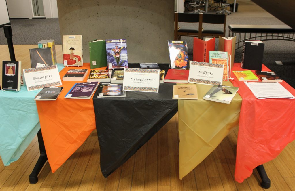 Hispanic Lit display
