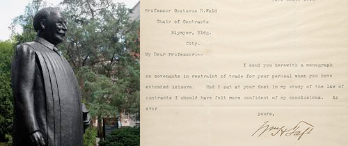 taft with letter