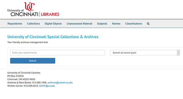 archives space homepage