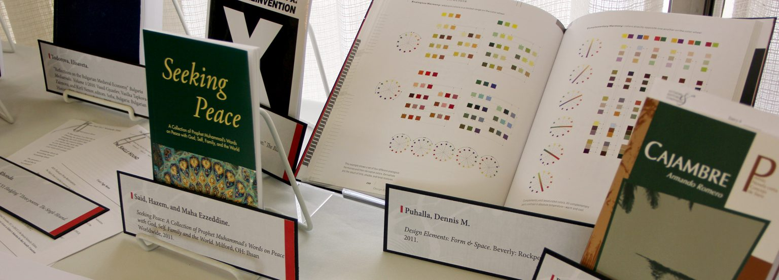 publications on display