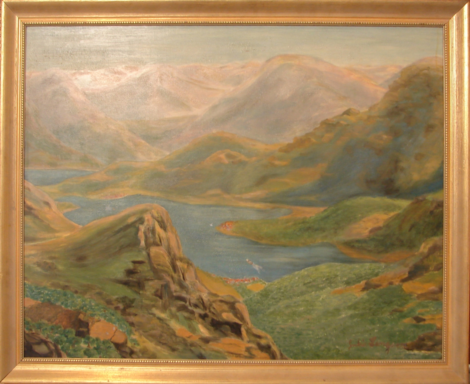 View from Delphi Greece  Langsam, Julia E, 1905-...  created 1962