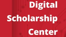 digital scholarship center graphic