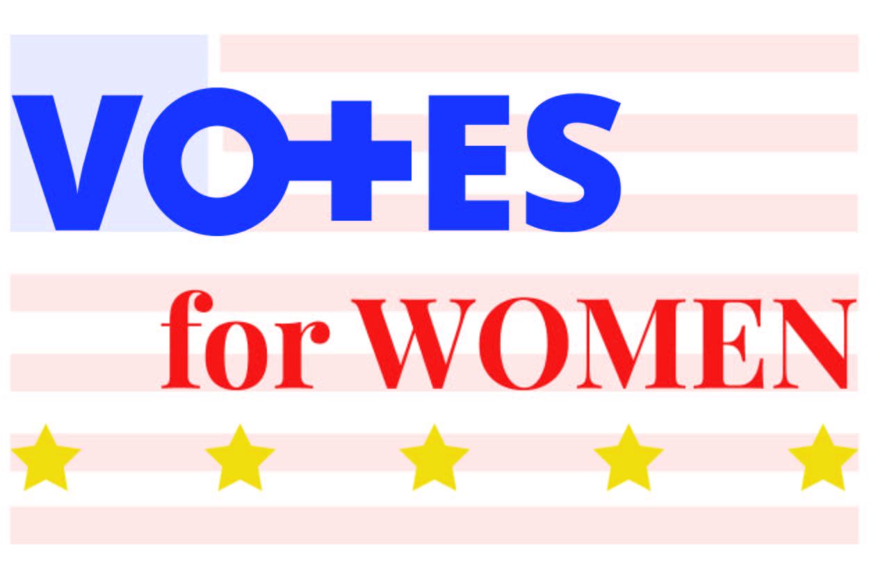 votes for women exhibit graphic