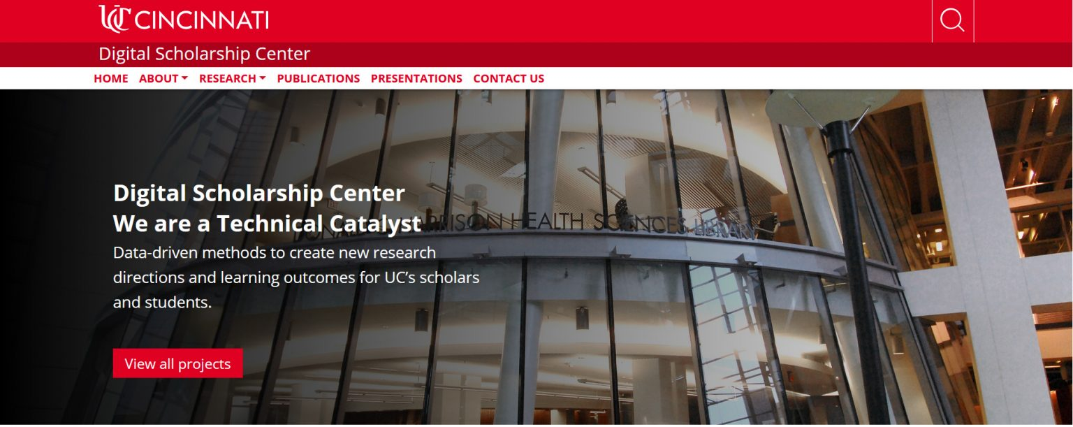 digital scholarship center's website